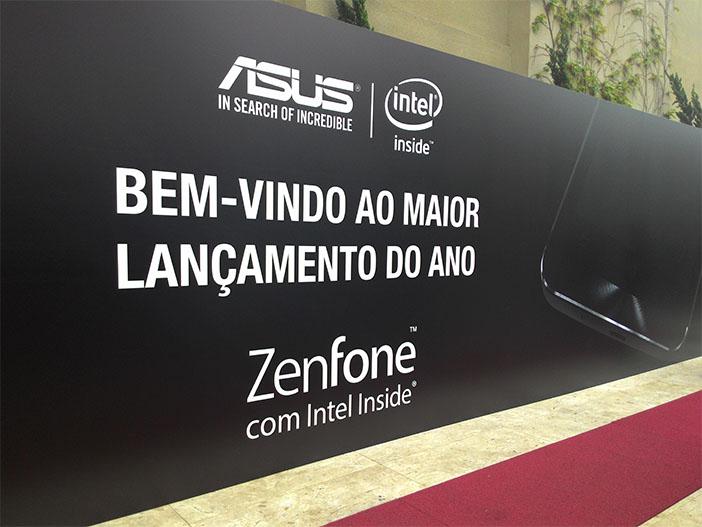 Entrada do evento de lançamento do ZenFone