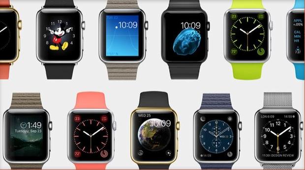 vários modelos de apple watch