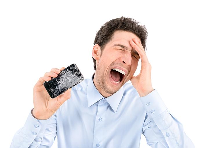 maneiras inusitadas de quebrar o celular