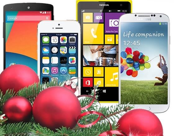 Smartphone de presente de Natal