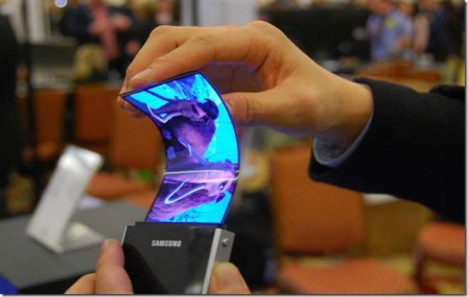 smartphone dobrável samsung protótipo