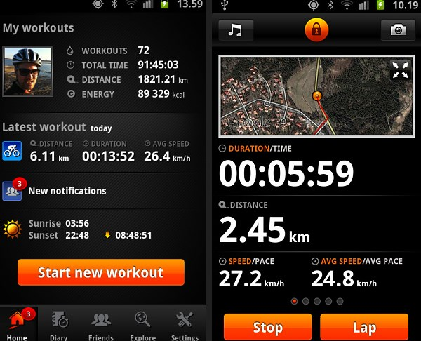 Print Sports tracker para IOS e Android