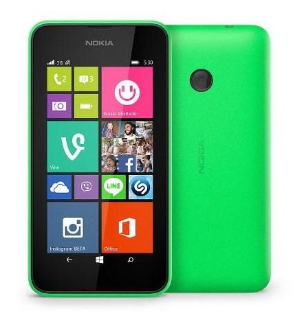 Tela do Nokia 530 com funcionalidades e facilidades