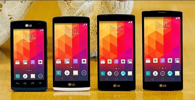 Smartphones LG - marca lança 04 modelos na MWC 2015
