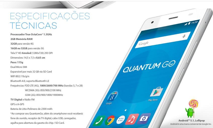 qual é o melhor smartphone - Quantum funcionalidades