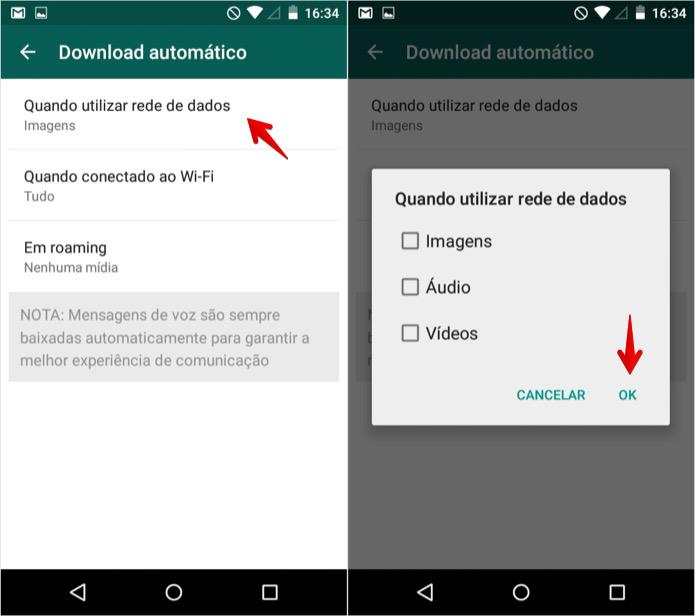 dicas android download automático de mídia no aplicativo whatsapp