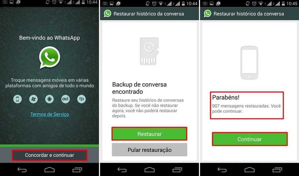 dicas android para recuperar mensagens do aplicativo whats app