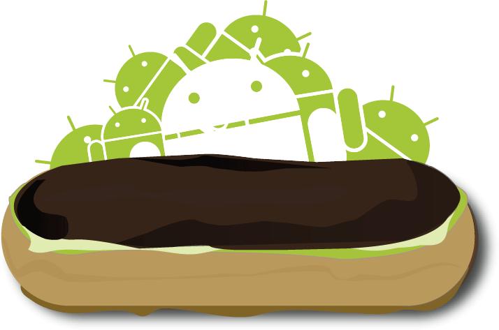 logo atualização do sistema operacional android eclair