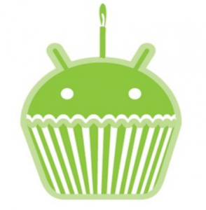logo atualização android cupcake