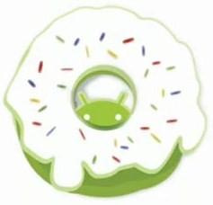 logo da atualização do sistema operacional android donut