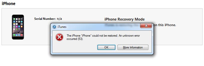 erro 53 iphone 6 e 6s
