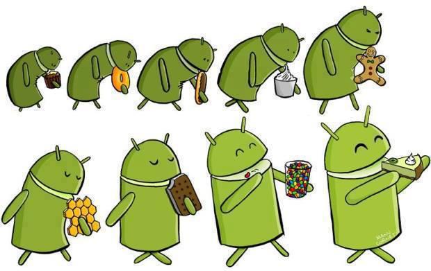 evolução do sistema operacional android