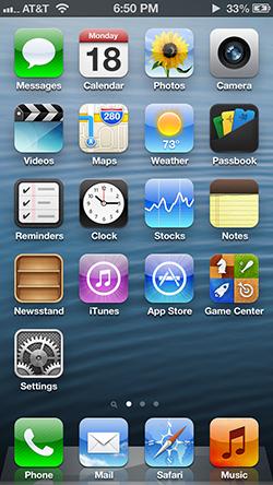 sistema ios versão 6 da apple