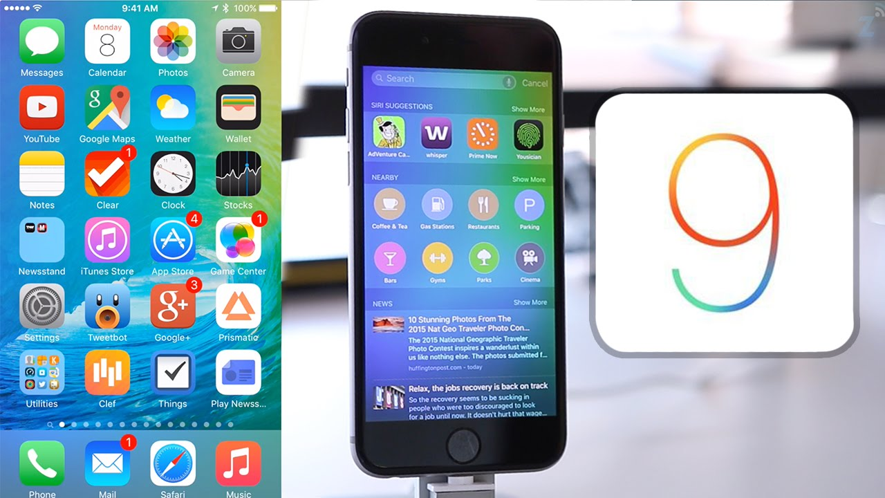 sistema ios na versão 9 apple