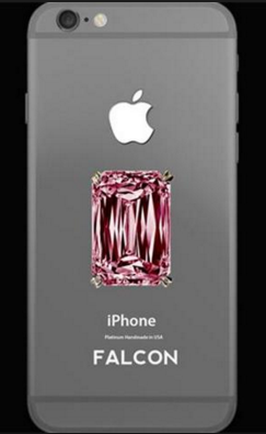 smartphone iphone 6 falcon pink diamond