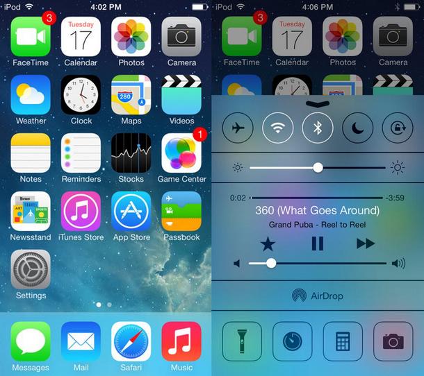sistema operacional ios versão 7 apple