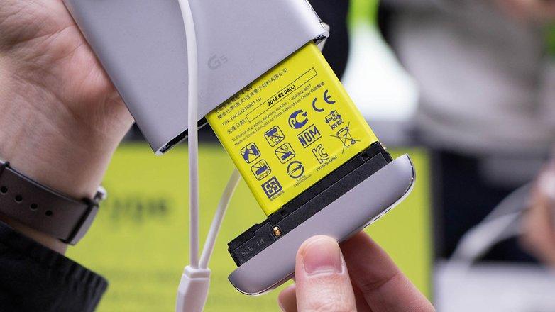 bateria removível do smartphone lg g5