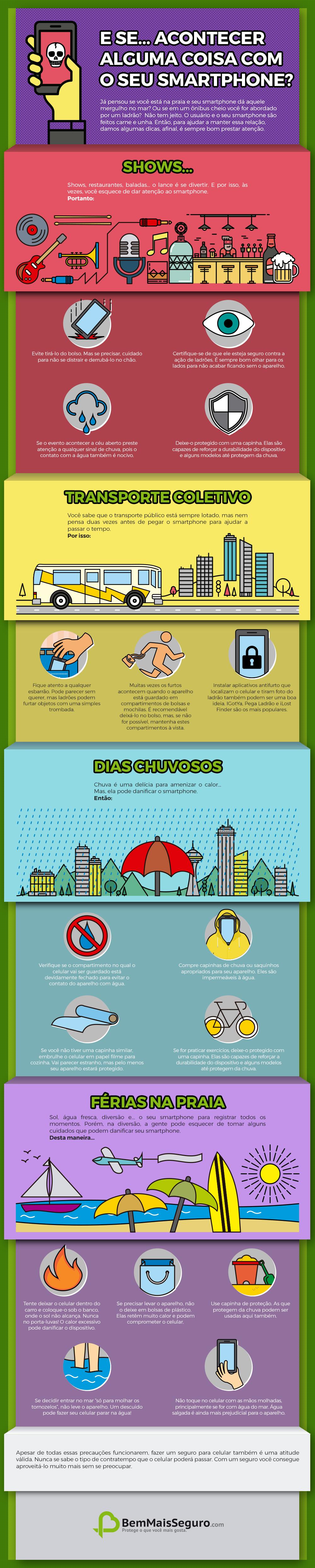 infográfico cuidados com o celular