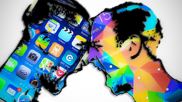 sistema android do galaxy a ou sistema ios do iphone se?