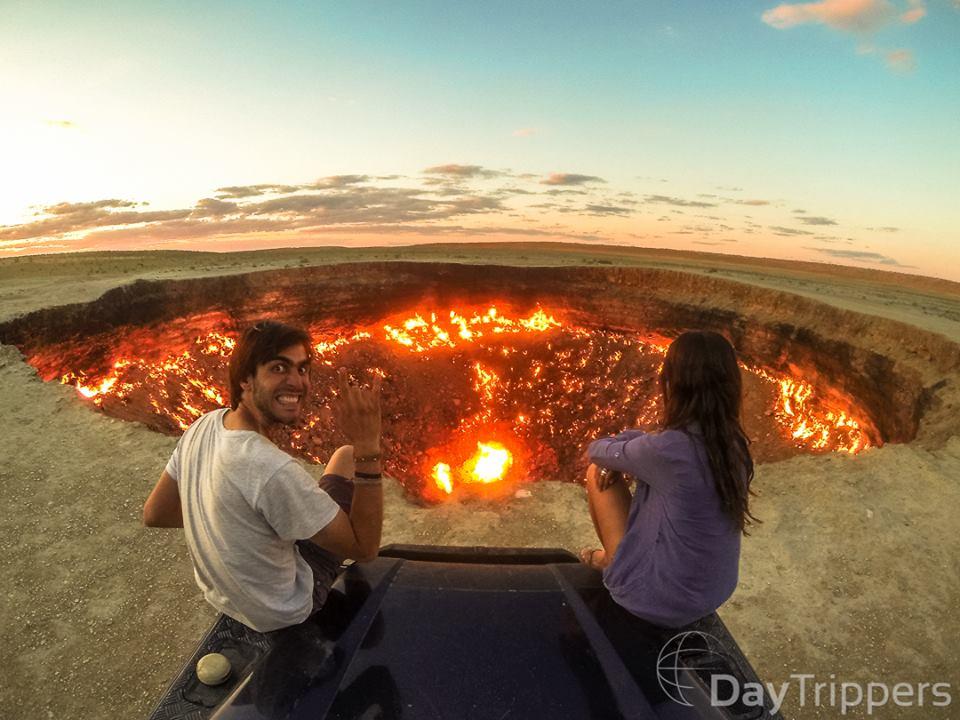 "Foto do blog daytrippers da ""porta do inferno"""