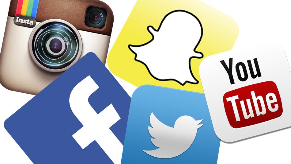 redes sociais baterias do smartphone