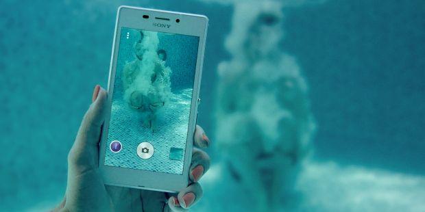 celular à prova d'água xperia m2 aqua