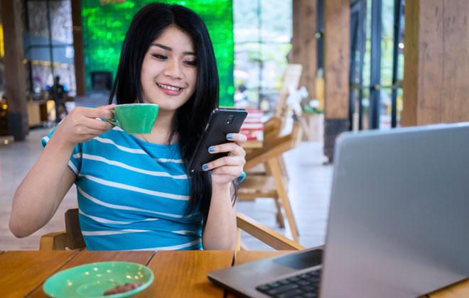 wi-fi grátis no resaturante