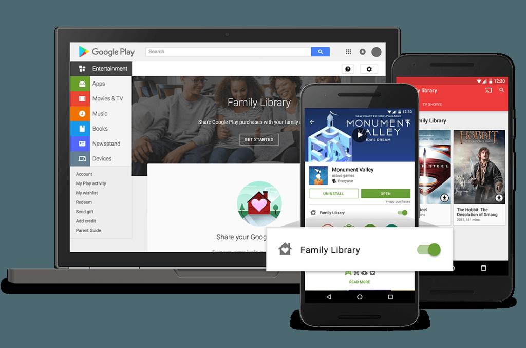 forma de compartilhar app do google
