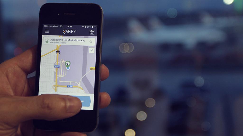 utilizando o app cabify