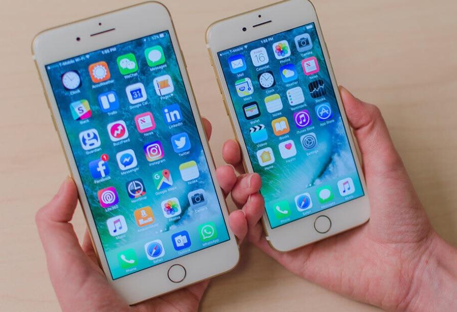 Tamanhos iphone 7