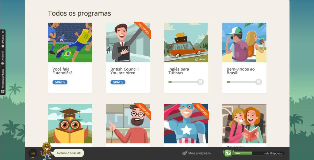 aprender inglês da maneira mais interativa