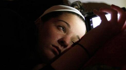 Passar a noite no smartphone