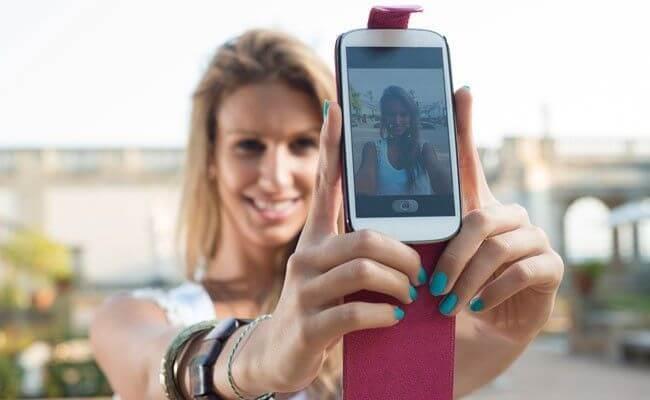 Tirar fotos com o celular