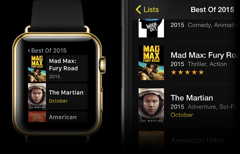 TodoMovies 4 aplicativo para apple watch