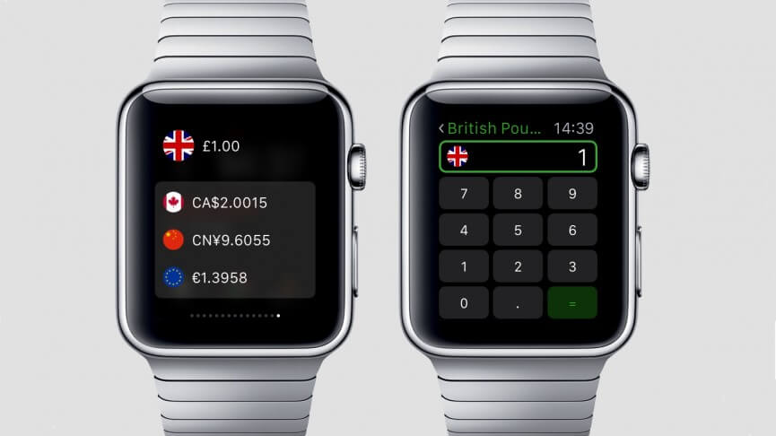 currency aplicativo para apple watch