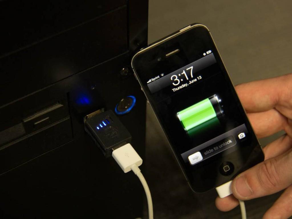 Carregando o iphone