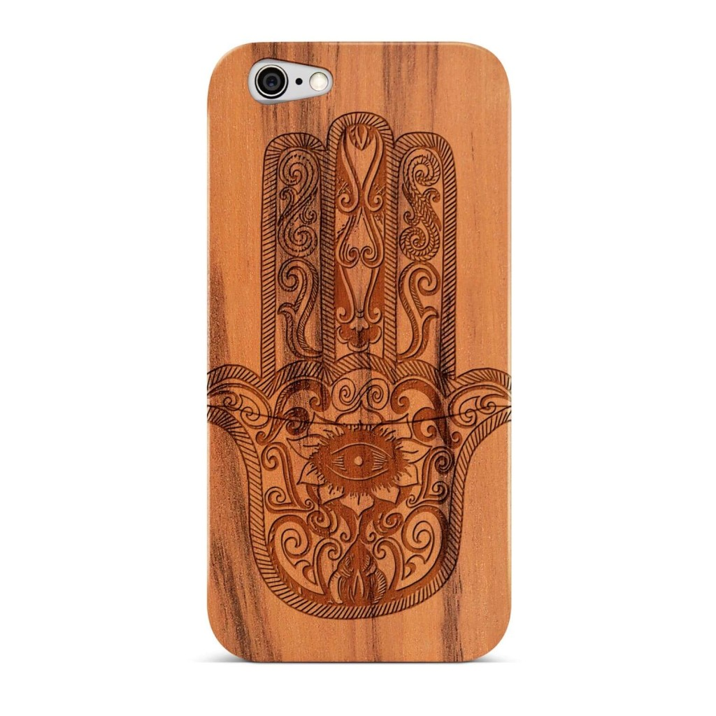 Capa de celular em madeira