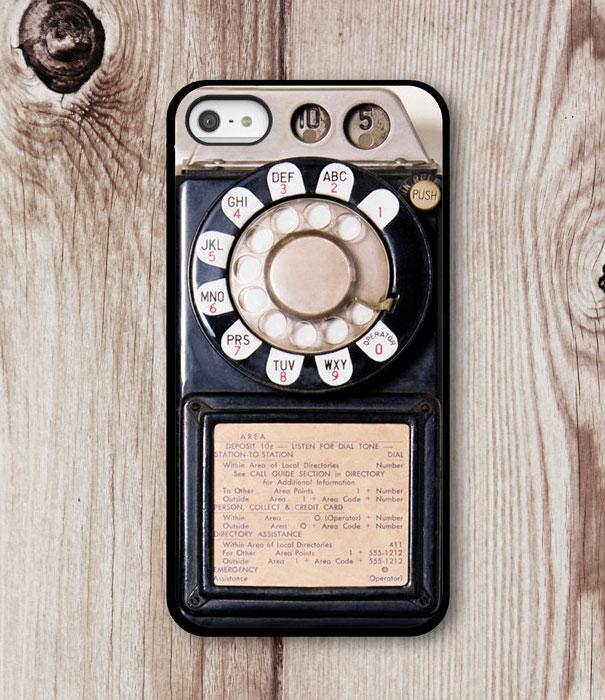 Capa para celular em forma de telefone antigo