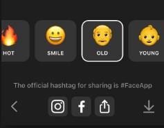 compartilhar faceapp