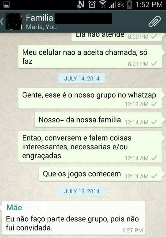 conversa de whatsapp