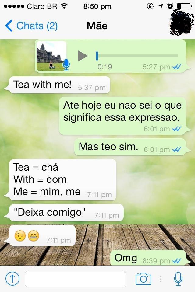 conversa de whatsapp com mãe