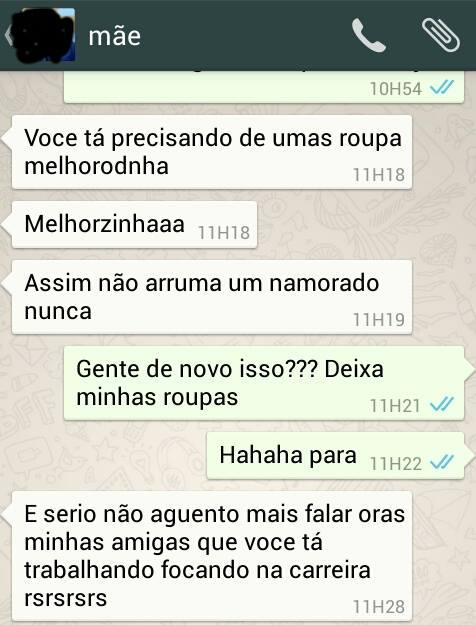 whatsapp de mãe engraçado