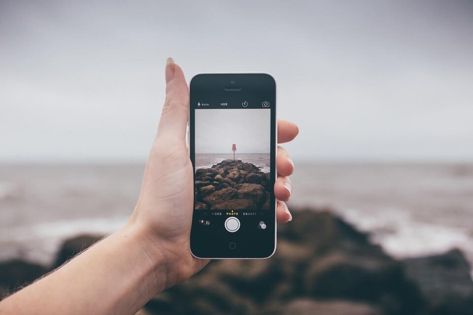 foto da câmera de smartphone
