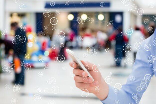 conceito de rede de internet de celular
